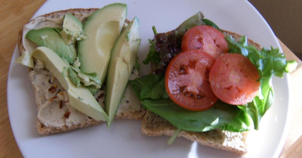 hummus sandwich cropped