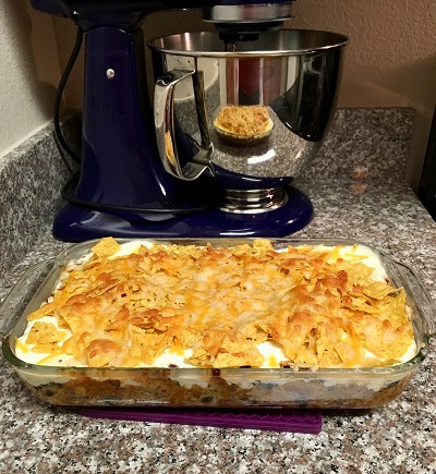 chili chips casserole completed