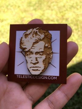David Lynch lapel pin